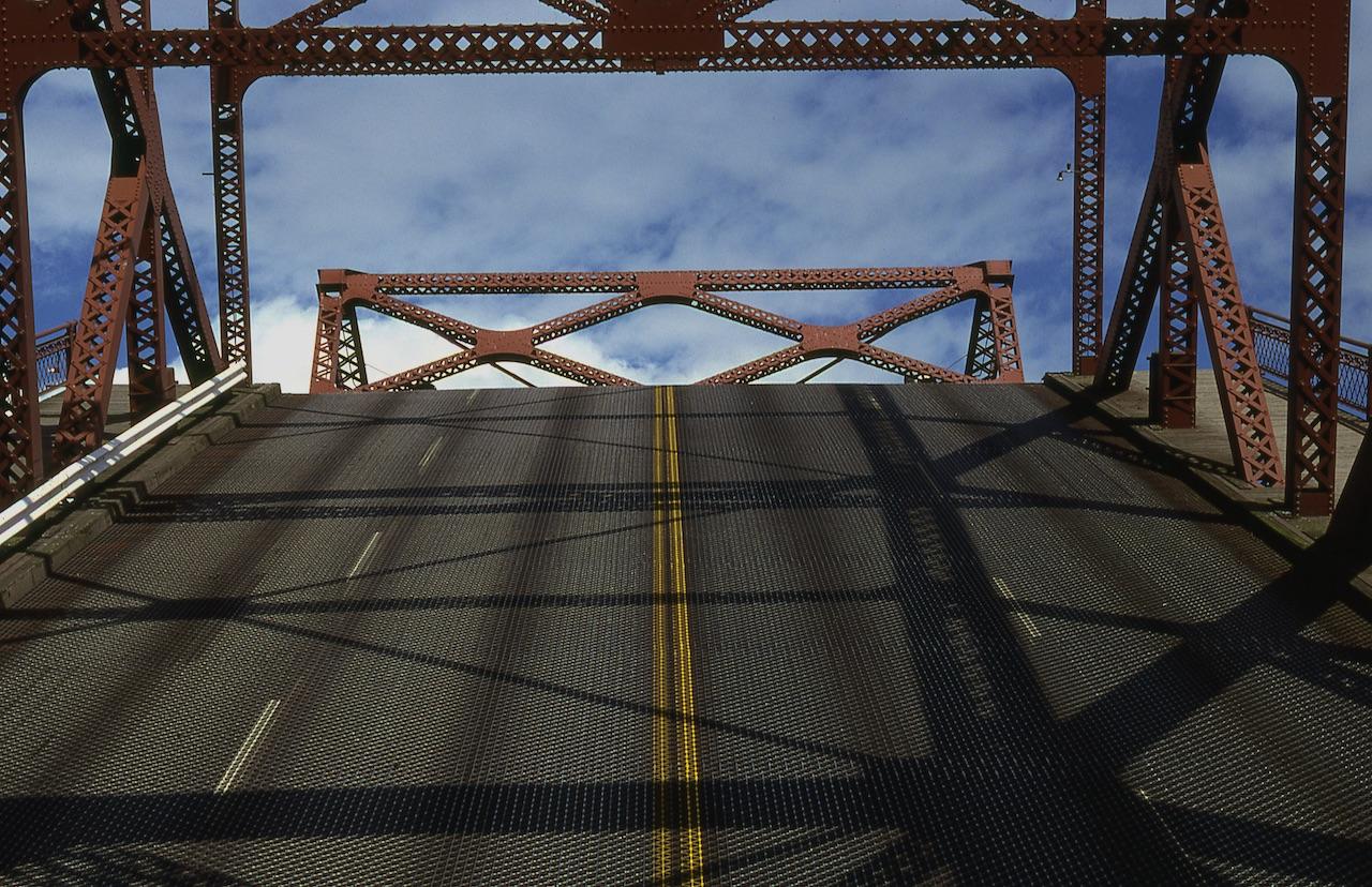 <center>BROADWAY BRIDGE, CENTERLINE WITH CLOUDS</center>