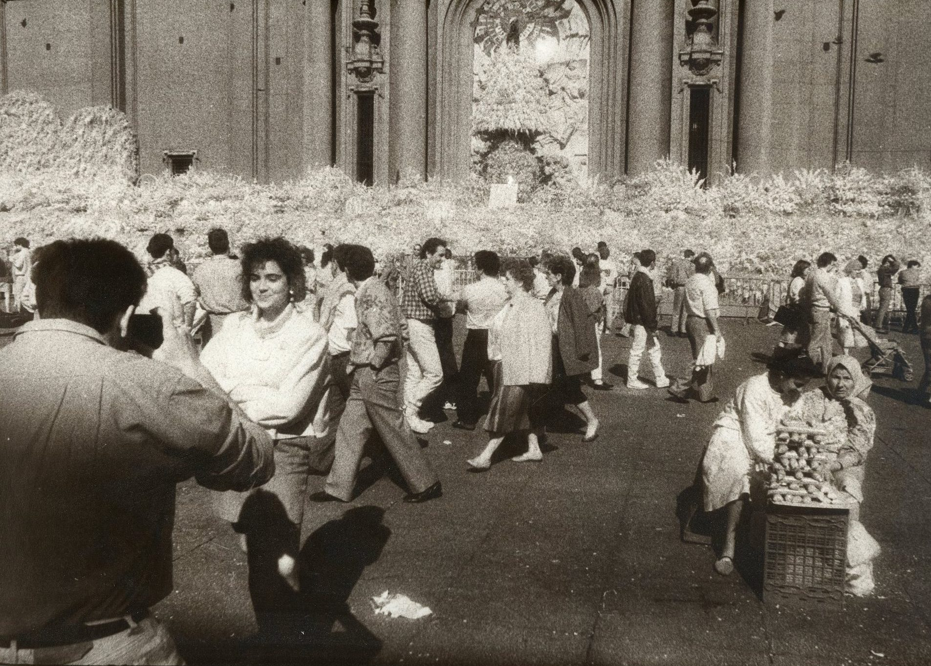<center>FESTIVAL OF PILAR, ZARAGOZA, SPAIN - (INFRA-RED)</center>